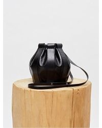 Low Classic - Leather Drawstring Small Bag - Black - Lyst