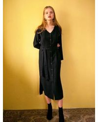 LIUNICK - Superb Button Dress Black - Lyst