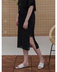 1159 STUDIOS - Mh6 Unbalance Pleats Skirt_bk - Lyst