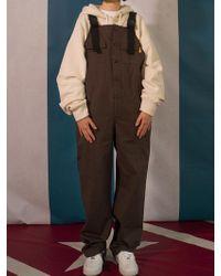 W Concept - 8f Suspender Buckle Trousers Dark Brown - Lyst