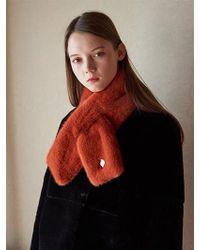 W Concept - Monaco Fake Fur Muffler 11color - Lyst