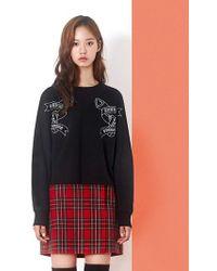 W Concept - Heart Gun Sweatshirt Black - Lyst