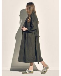 MONOPISPA - Women Buffalo Robe Coat Poplin Olive - Lyst