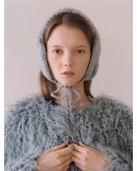 Awesome Needs - Hand Made Lambs Wool Knit Ear Muff_blue Grey - Lyst