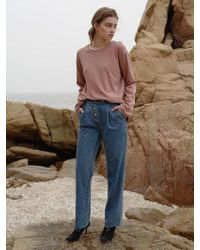 among - [bf] A Tuck Button Jean - Lyst