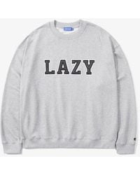W Concept - Lazy Over Sweatshirt Grey - Lyst