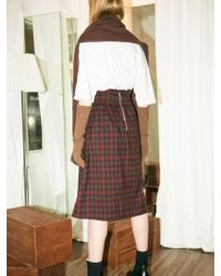 LETQSTUDIO - Renata Skirt Brown - Lyst