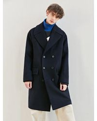 BONNIE&BLANCHE - Moment Double Overfit Coat Navy - Lyst