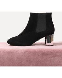 LAGRAZIA - 71850bk Scarlett Metallic Ankle Boots - Lyst