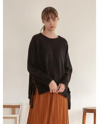 TARGETTO - Raglan Ribbon Knit Black - Lyst