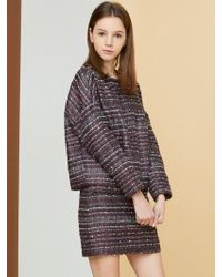 MILLOGREM - Comma Tweed Pullover - Purple - Lyst