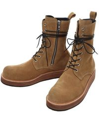 RELIZM PRODUCT | Side Zip Leather Combat Boots Tan | Lyst