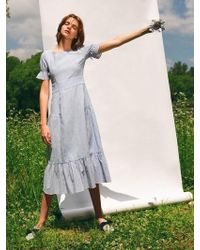 LETQSTUDIO - Linen Broderie Dress - Lyst