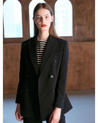 COLLABOTORY - Bacma5001m Nomcore Double Breasted Jacket Black - Lyst