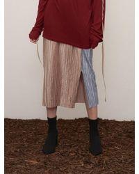 1159 STUDIOS - Mh7 Color Point Velvet Skirt_sb - Lyst