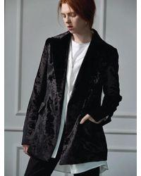 Clue de Clare - Velvet Double Jacket Black - Lyst