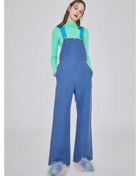 W Concept - Mmcw Taped Overall Denim - Lyst