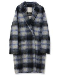 a.t.corner - Blue Glen Check Coat - Lyst