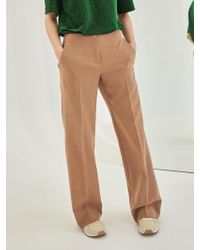 COLLABOTORY - Baama6014m Normcore Wide Trousers Beige - Lyst