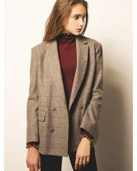 Blanc & Eclare - Washington_grey Check Jacket_ - Lyst