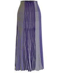 MOIMOII - Combi Pleats Knit Skirt - Lyst