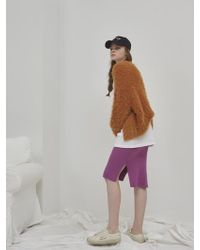 NUISSUE - Knit Curly Cardigan Light Camel - Lyst