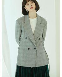 Clue de Clare - Corset Jacket-check - Lyst