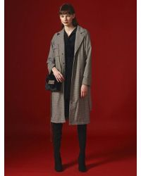 Margarin Fingers - Check Long Coat - Lyst