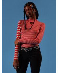 NANA CREW - Heart Striped Long Sleeve T-shirt Red - Lyst