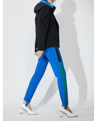 Aheit - Striped Track Pants Blue - Lyst