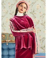 VVV - Pink Velvet Tape Sweatshirt - Lyst