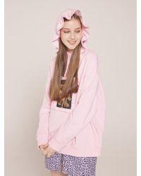 CLUT STUDIO - 0 4 Ruffle Bear Hoodie - Pink - Lyst