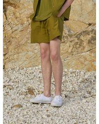 AECA WHITE Ryui Shorts_olive - Green