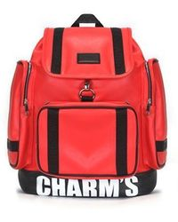 Charm's - Puberty Leather Backpack Red - Lyst