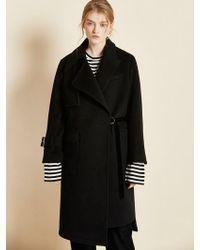 Clue de Clare - Unbalanced Coat Black - Lyst
