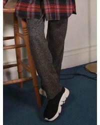 ANOUTFIT - [unisex] Glencheck Wide Pants Black - Lyst