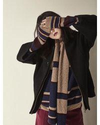 Aheit - Virgin Wool A-line Sleeve Jumper Black - Lyst