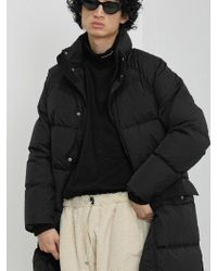 LIFUL MINIMAL GARMENTS - Phantom Long Down Parka Black - Lyst