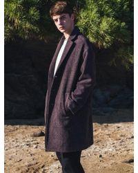 F.ILLUMINATE - [unisex] Oversize Calm Wool Coat Wine - Lyst