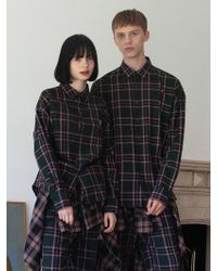 TARGETTO - [unisex] Tgt Check Shirt Green - Lyst