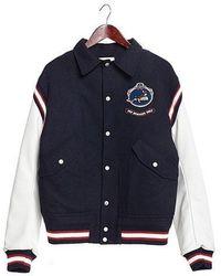 Beyond Closet - [unisex]bromance Wappen Dog Wool Stadium Jp Navy - Lyst