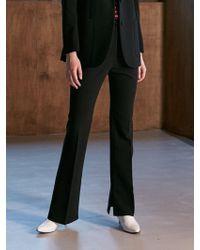 COLLABOTORY - Bacma6002m Slit Bell Pants Black - Lyst