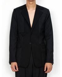 DOZOH - Black Comb Pin Striped Blazer Jacket - Lyst