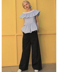 Fleamadonna - Jewel Button Wide Pants - Lyst