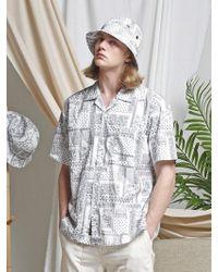 FRIZMWORKS - [unisex] Aloha Half Shirt _ Paisley White - Lyst