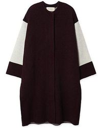 a.t.corner - Amd16da03wn Wine Long Cardigan - Lyst