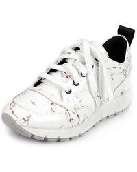 SHOBONYATA - Marble Pattern Point Sneakers_s3035 - Lyst