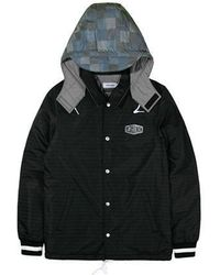 W Concept - Reflective Hooded Coach Jacket Black - Lyst