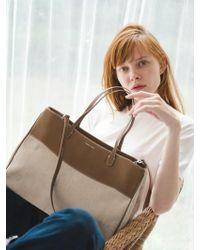 W Concept - Essential By Um Dales Bag Tan - Lyst