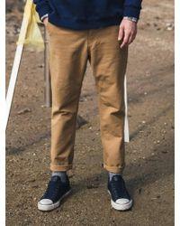 F.ILLUMINATE - [unisex] Normal Slub Cotton Pants-brown - Lyst